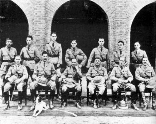 George Orwell in Myanmar (back row 3rd from left)