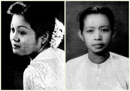 L-R Dagon Khin Lay Lay, Ma Ma Lay.